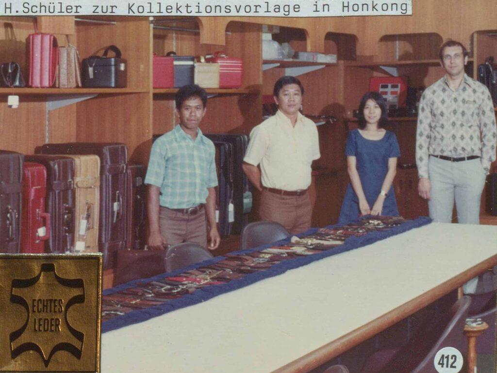 Hepco-Azubis in Hongkong im Jahre 1962. Hongkong war damals das wichtigste Handelszentrum in Asien.
